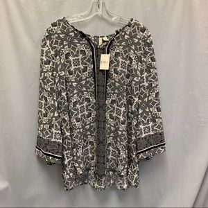 Cato Black and White Women's Blouse, NWT, Size Xl